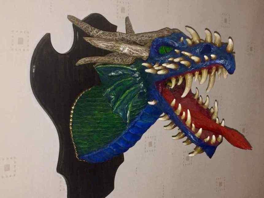 Marko Salomäki paper mache Dragon