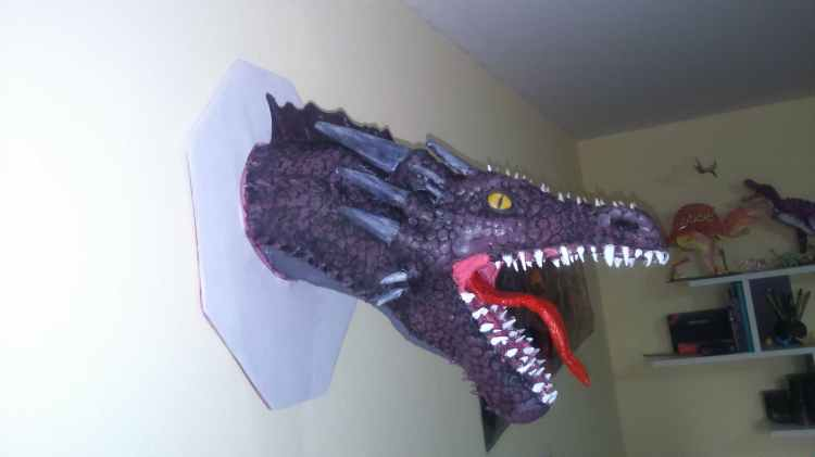 Milton Montaño Rojas' paper mache dragon