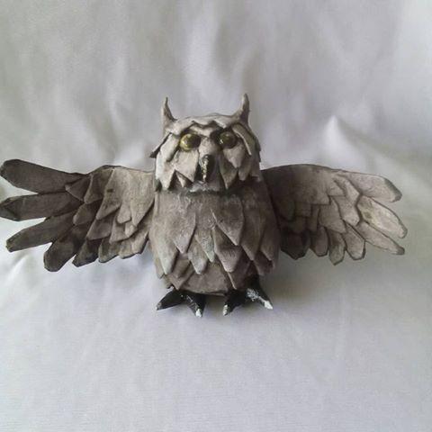 Nareth Fernández's paper mache owl