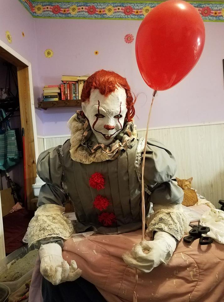 Patti shirley's paper mache PENNYWISE