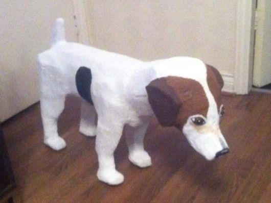alan's paper mache dog