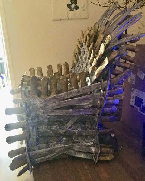 Alan Faunch's paper mache throne