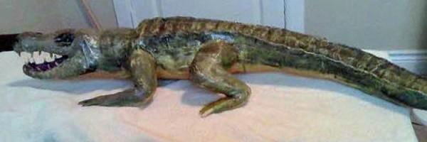 Eb alligator paper mache