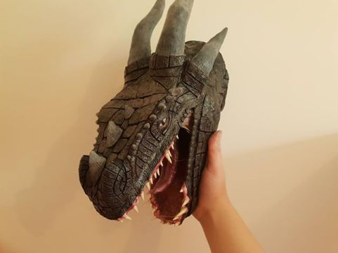 ffion caines paper mache dragon