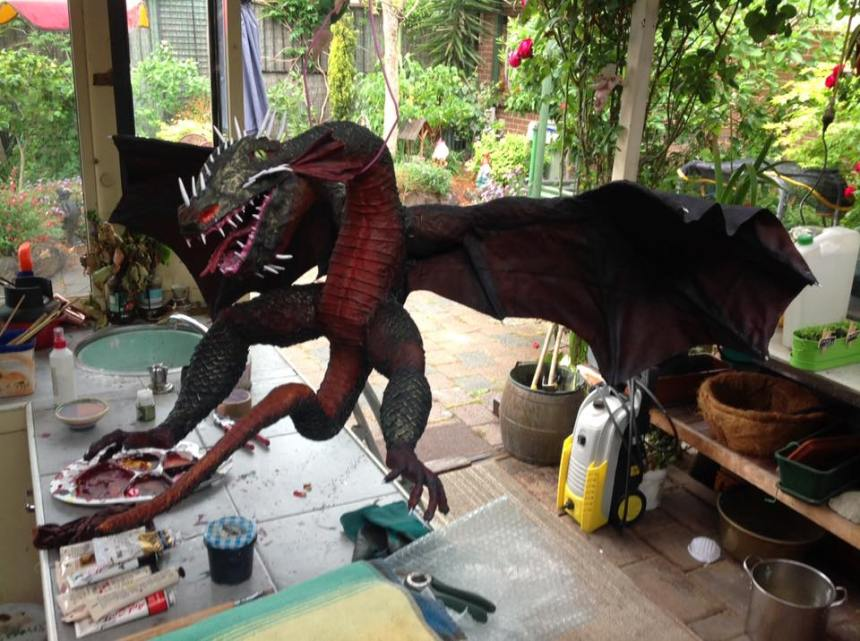 Hetty Liet's paper mache dragon
