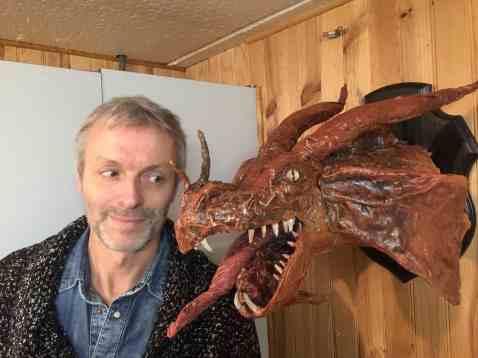 jeff mongloux paper mache dragon