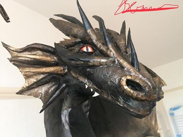 Jo Jo Sammons paper mache dragon
