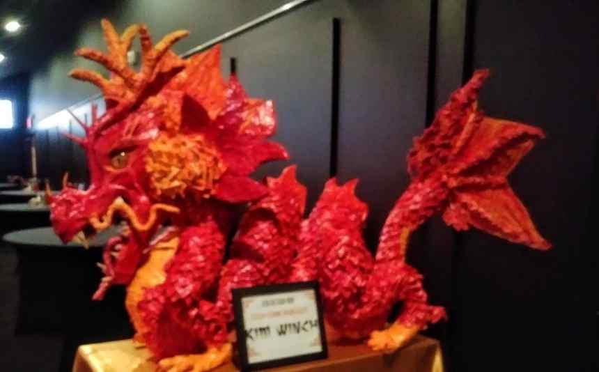 Kim Winch's paper mache dragon