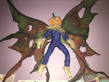 rich watkins paper mache halloween project