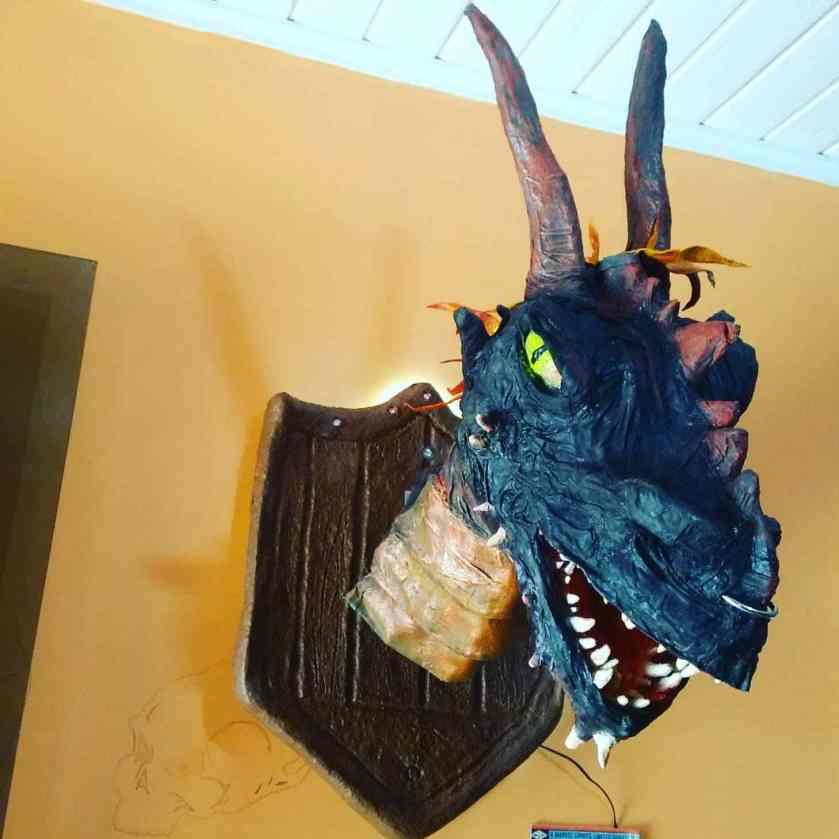 Rudney Correia's paper mache dragon