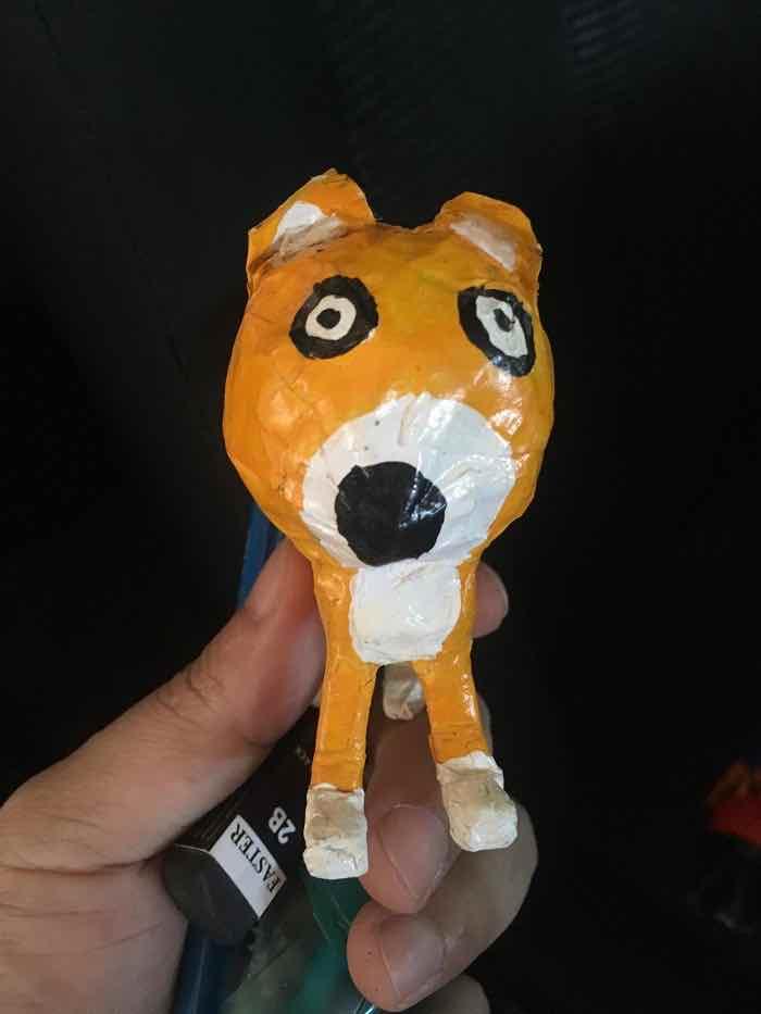 santisuk sujittanonrat's paper mache dog