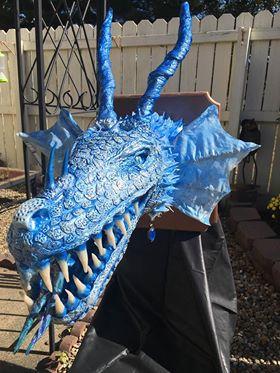 Troy Haas paper mache trophy