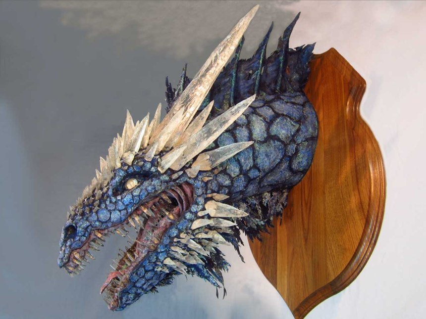 Paper Mache Ice Dragon