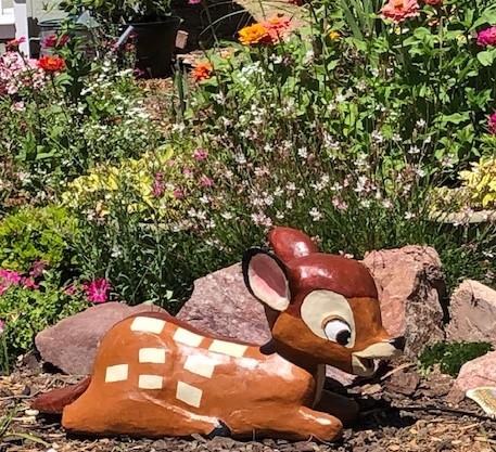 Angela's paper mache Garden Bambi