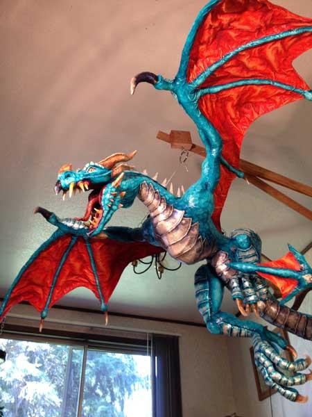 cindy's paper mache dragon6