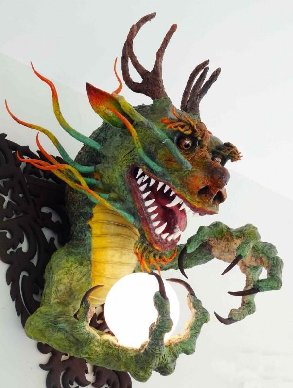 Ivan Arzamastsev's paper mache dragon