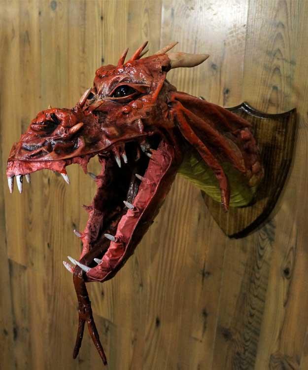 Lyman's paper mache dragon