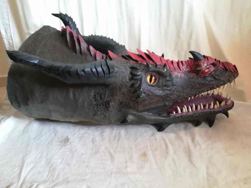 Nicola's paper mache dragon