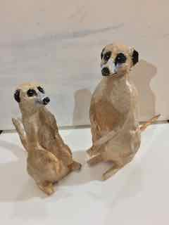 Phoebe Sparrow Wagner paper mache meerkats