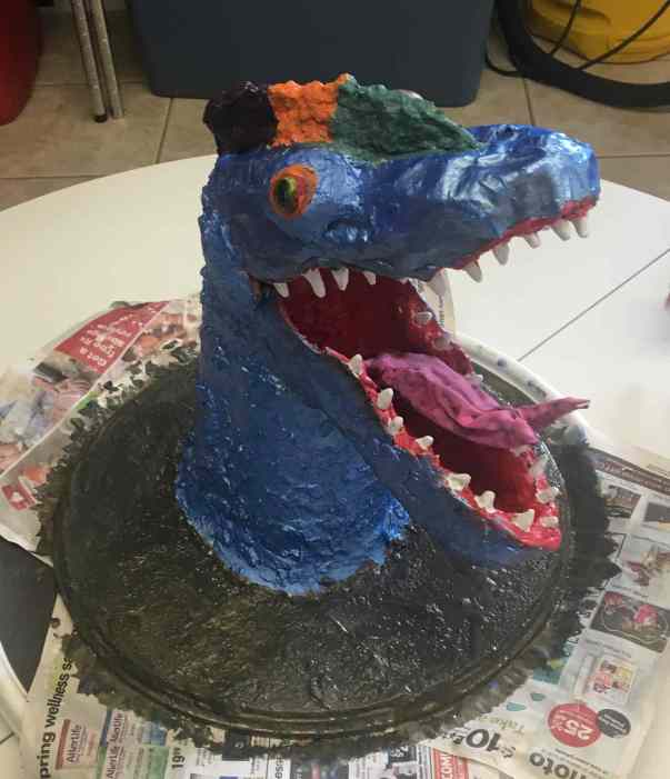 Aaron's paper mache dragon!