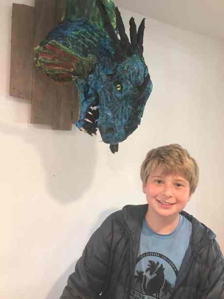 Andrew Sheshunoff's paper mache dragon