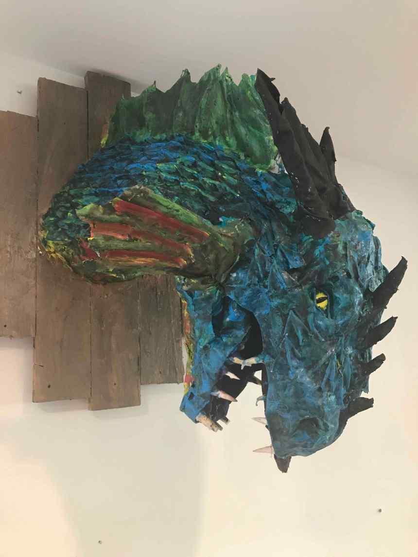 Andrew Sheshunoff's paper mache dragon2