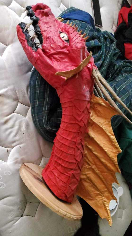 Beth Kroeker's paper mache dragon2