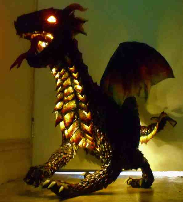Cheri Rose dragon with lights