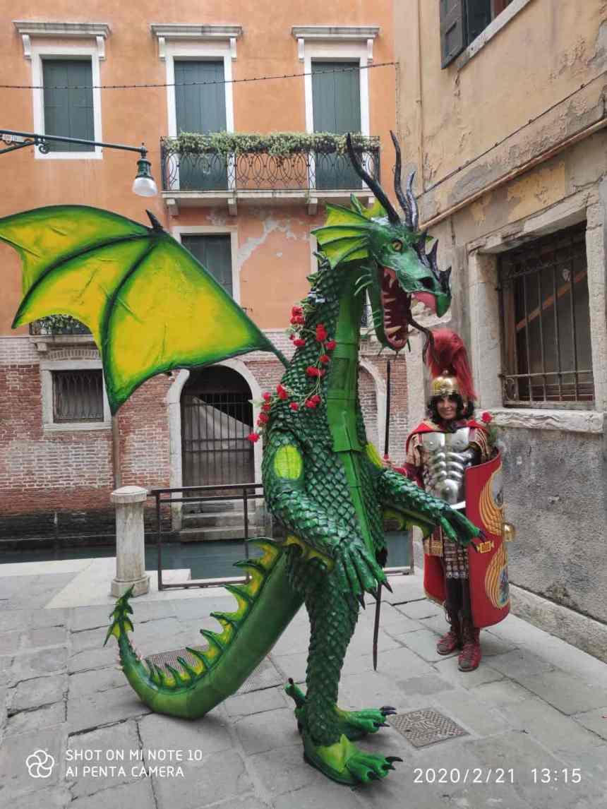 Daniele Pons Venice Carnival 2020 (Italy) SAN GIORGIO E IL DRAGO2