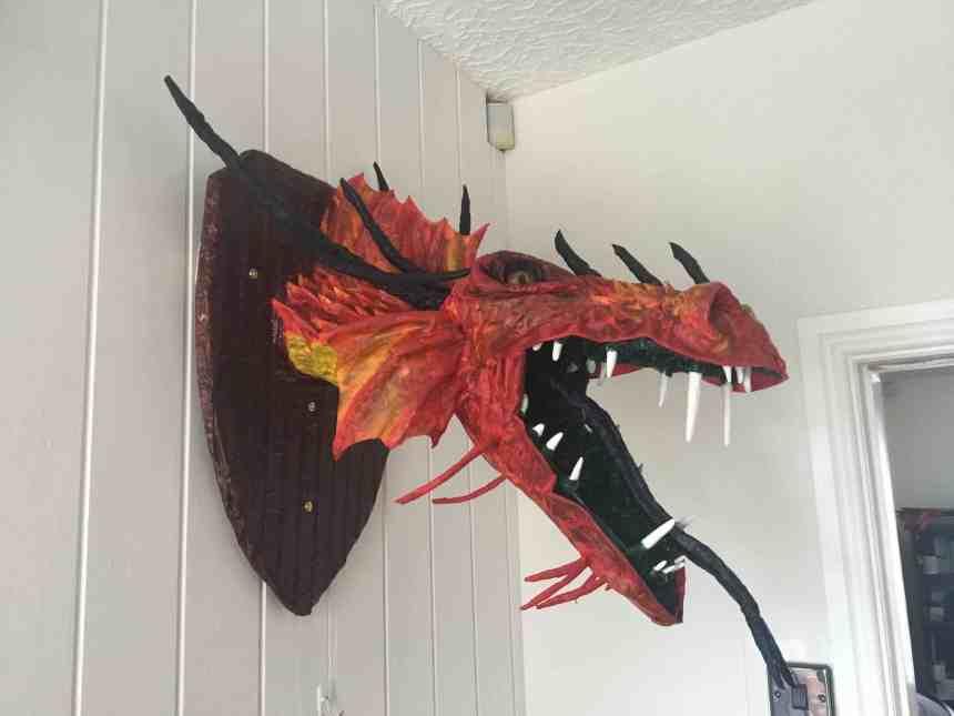 Denise Wilkin's paper mache dragon