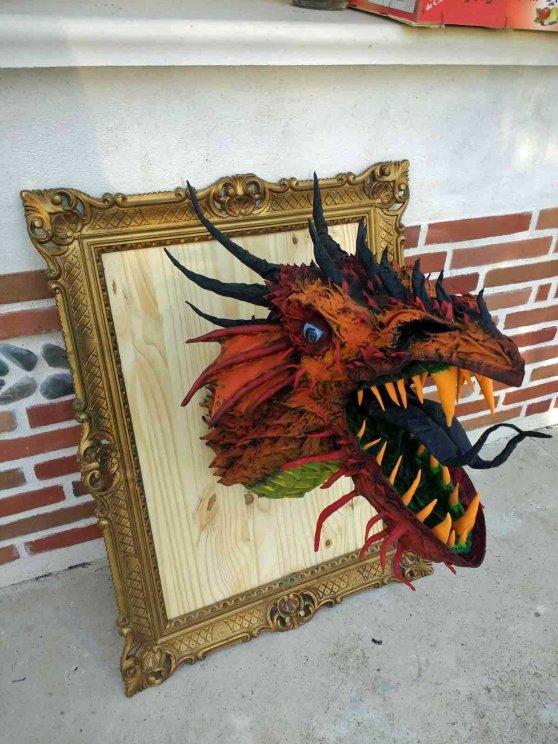 Fabien SAVIGNOL's paper mache dragon