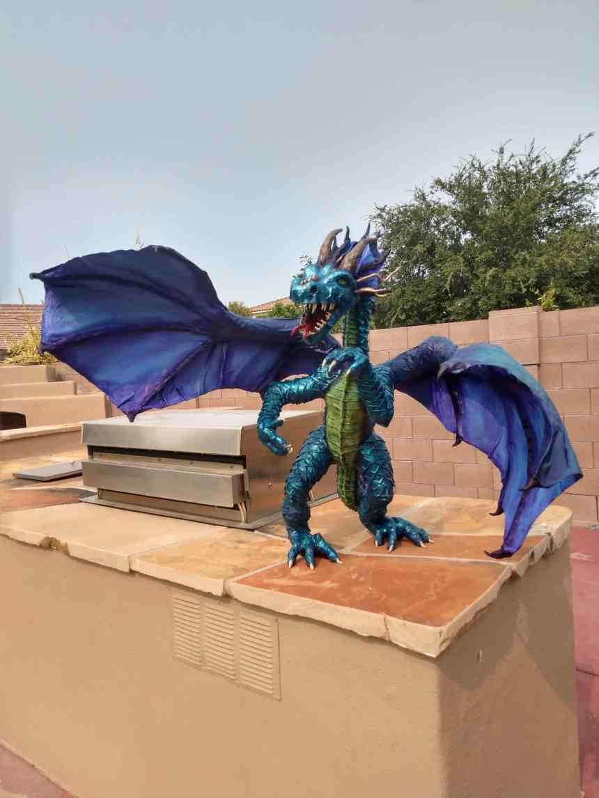 Jan's paper mache dragon