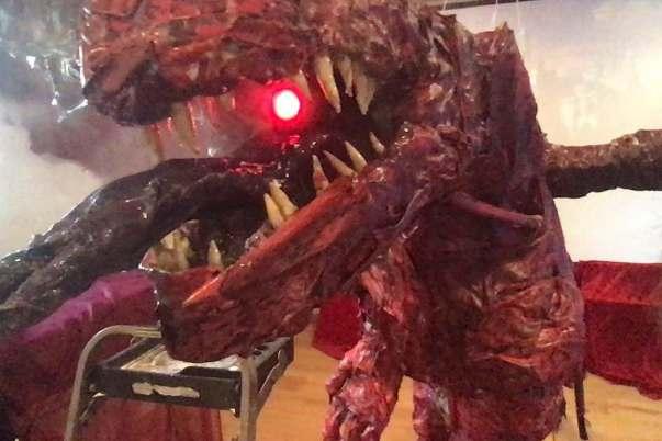 Andrew Kalish's paper mache dragon lights