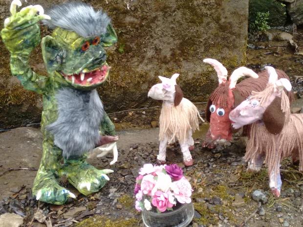 Gill Heritage goatsandtrollatthewell-2