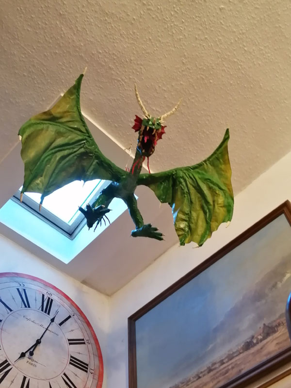 Andy Slater's dragon in the ceiling