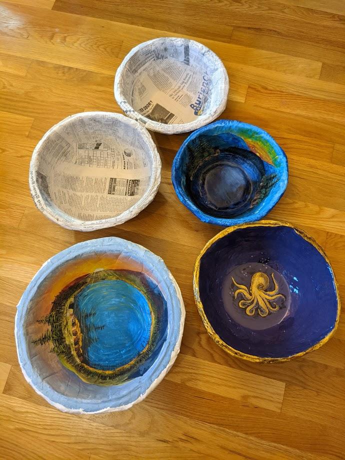 Sara Hospador Paper Mache Bowl